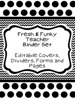 Fresh & Funky Teacher Binder Set (Everything You Need for