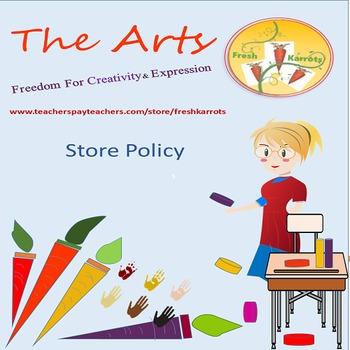 Fresh Karrots Store Policy