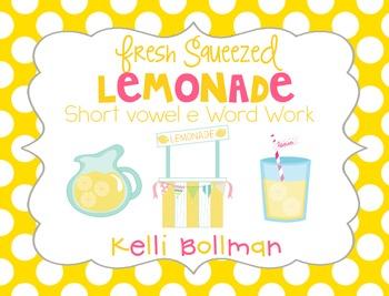 Fresh Squeezed Lemonade {short vowel e} Word Work