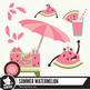 Fresh summer watermelon clipart