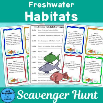 Freshwater Habitats Scavenger Hunt