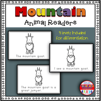Mountain Animals - A Differentiated Set of Emergent Readers