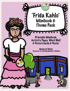 Frida Kahlo Printable Minibook & Activity Pack Spanish Resources