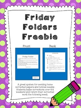 Friday Folder Freebie
