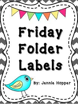 Friday Folder Labels FREEBIE