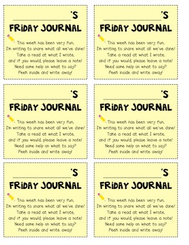 Friday Journal Note/ Cover