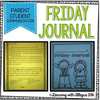 Friday Journal {Parent Student Communication}