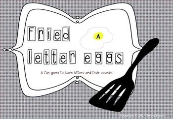 Fried letter eggs