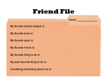 Friend File for Tweens and Teens