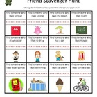 Friend Scavenger Hunt for the First Day of School