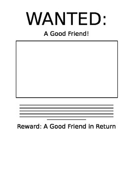 Friend Wanted Poster!