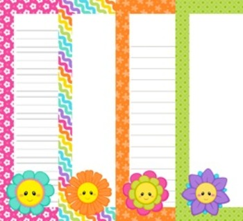 Friendly Flowers Mothers Day Writing Paper - 3 Styles - (
