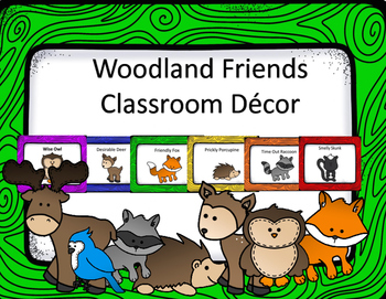 Friendly Forest Animals Classroom Decor