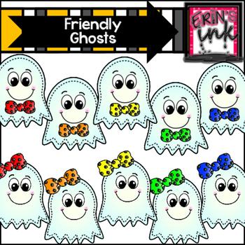 Friendly Ghosts Clip Art