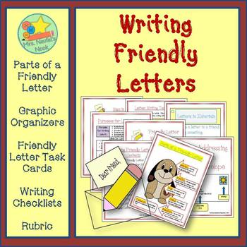 Letter Writing - Graphic Organizers, Templates & Task Cards