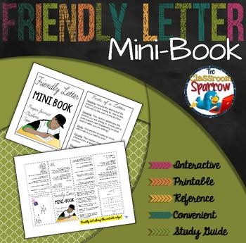Friendly Letter Mini-Book (A Perfect Addition to an ELA In