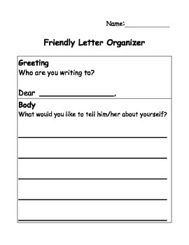 Friendly Letter Organizer