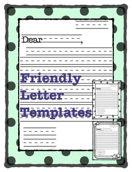 Friendly Letter Templates