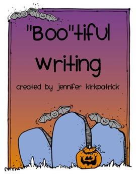 "Friendly Letter Writing Halloween ""Boo""tiful Writing Grade"