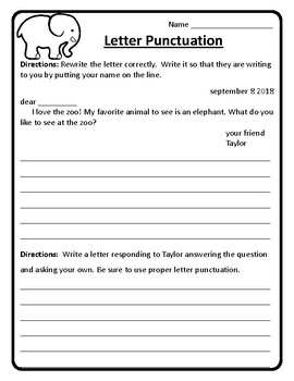 Responding to a Friendly Letter Worksheet Friendly Letter
