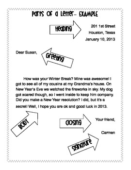 Printables Writing A Friendly Letter Worksheet friendly letter template vocabulary worksheets by vanessa crown worksheets