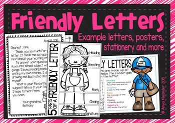 Friendly Letters Writing Unit