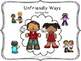 Friendly or Unfriendly?  Social Skills Packet!