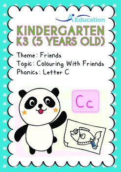 Friends - Colouring with Friends: Letter Cc - Kindergarten