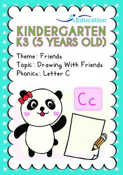 Friends - Drawing with Friends: Letter Cc - Kindergarten,
