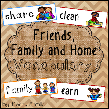 Friends, Family and Home Vocabulary