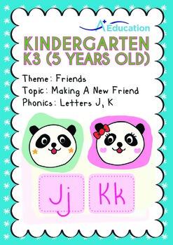 Friends - Making a New Friend: Letters Jj Kk - Kindergarte