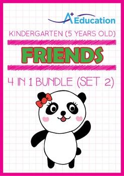 4-IN-1 BUNDLE - Friends (Set 2) - Kindergarten, K3 (5 years old)