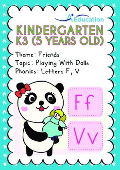 Friends - Playing with Dolls: Letters Ff Vv - Kindergarten