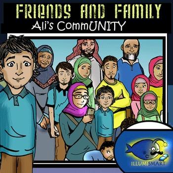 Friends and Family: Ali's CommUNITY 30 pc. Clip-Art BW & Color
