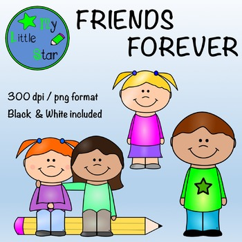 Friends forever: clipart