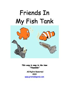 Friends in My Fishtank Song and Activities