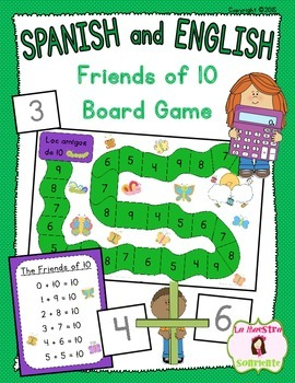 Addition Friends of 10 Board Game: Numbers That Add to Ten