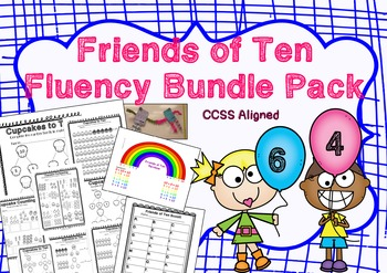 Friends of Ten Fluency Mega Bundle | Adding/Decomposing wi