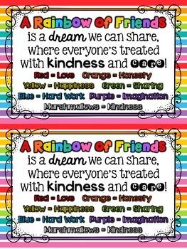 Friendship Freebie {Rainbow of Friends} {Beginning of the