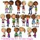 Friendship Kids Clip Art 10 Color Images Friends and Relat