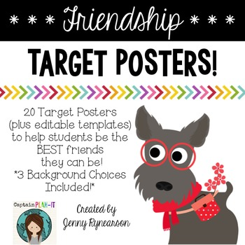Friendship Target Posters! Help students be the BEST frien