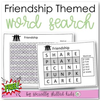 FREE! Friendship Word Search