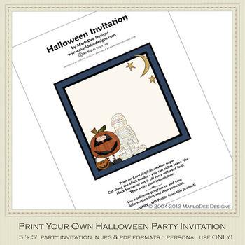 Fright Nite Printable Halloween Party Invitation 3