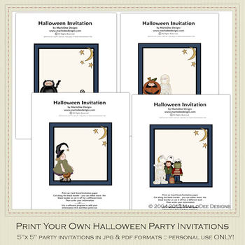 Fright Nite Printable Halloween Party Invitation Set