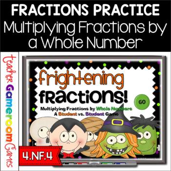 Frightening Fractions Powerpoint Game - Multiplying Fracti