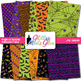 Frights and Delights Halloween Paper {Scrapbook Background