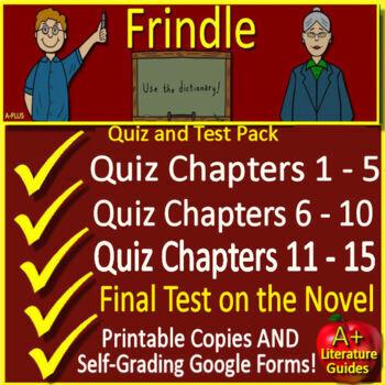 Frindle Novel Study Test Bundle Common Core Aligned
