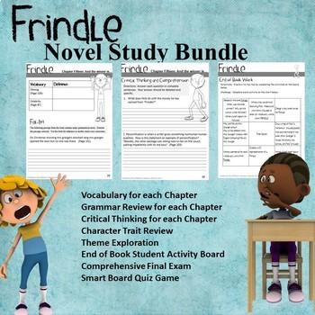 Frindle Novel Study Bundle (Chapter Work, Assessment, Games)