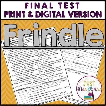 Frindle Final Test