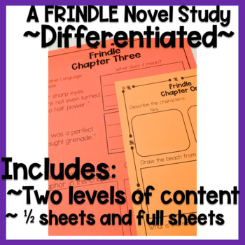 Frindle Novel Study Half Sheets!